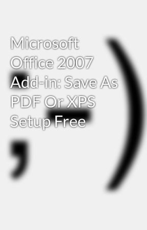 Gratis Add In Save As Pdf Or Xps