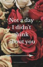 Not a Day I Didn't Think About You (Tom Holland Fan Fic) by _collapsedheart_