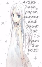 Paper,canvas,paint and  THE VOID (an original story) by Nightmare-ball-