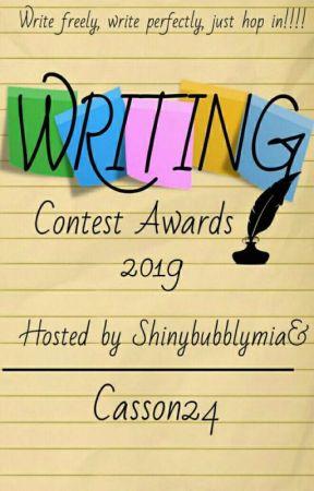 WRITING CONTEST AWARD 2019 by shinybubblymia
