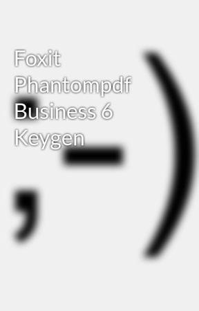 foxit phantompdf business keygen only