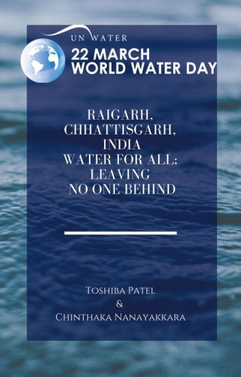 Raigarh, Chhattisgarh, India, Water For All, Leaving No One Behind