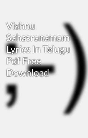 Vishnu Sahasranamam Meaning In English Pdf