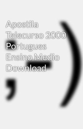 Telecurso 2000 Portugues Ensino Medio Pdf