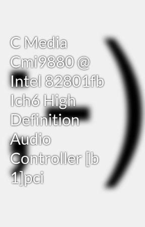 C MEDIA CMI9880L AUDIO DRIVER WINDOWS 7 (2019)
