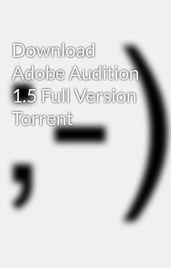 adobe audition скачать торент