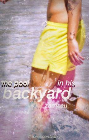 the pool in his backyard ➳ zarry by fluorescentzarry