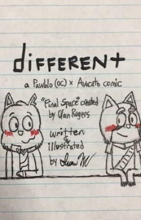 different: a Pawblo (OC) x Avocato comic (Final Space) by TheKingOfSING