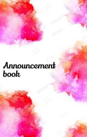 Announcement and talk book by Neko_Nanase