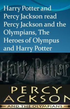 Harry Potter and Percy Jackson read Percy Jackson and the Olympians, The Heroes by RavenLadyElements