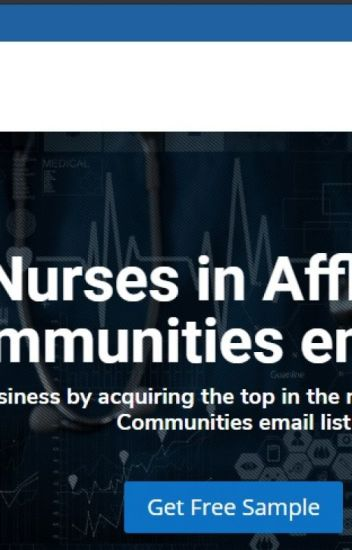 Nurses in Affluent Communities Email List |Mailing Database