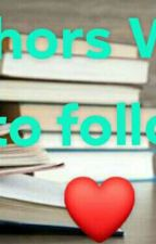 famous authors that u must follow so u can enjoy reading😊😊😊 by loveskyyana