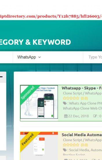 Whatsapp Clone Web Chat Script - Online Chat Script