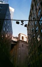 shoes on powerlines  by pepp3roni