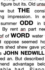 The Odd Word by johnnedwill