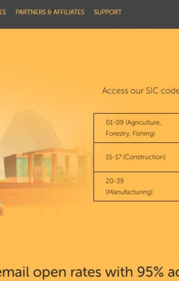 SIC Code Mailing List | Business Email List by SIC Code
