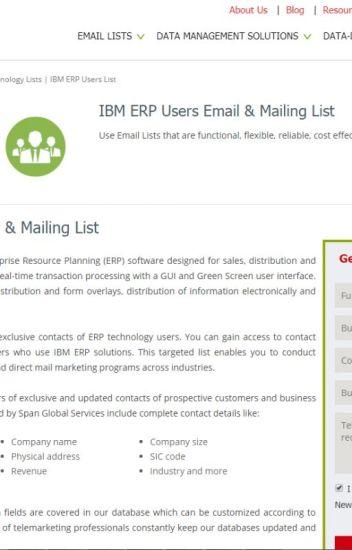 List of Companies using IBM ERP - emaildataus - Wattpad