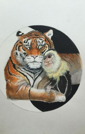 The Tiger and the Monkey. by Purplelily_0314