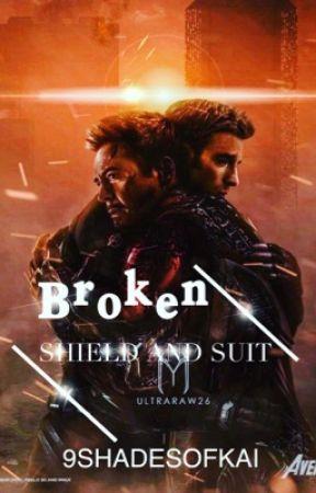 Broken Shield And Suit [Stony] by 9ShadesOfKai