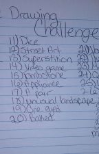 My 30 day drawing challenge book by NigHtMarE143143