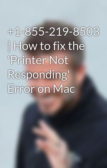 1-855-219-8503 | How to fix the 'Printer Not Responding' Error on