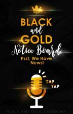 Black And Gold Community Notice Board by BGCommunity