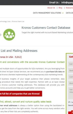Kronos Users Email List - List of Companies using kronos
