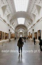 Evelyn Delaine in Hogwarts (pt. 1) +harpot by quafflechu