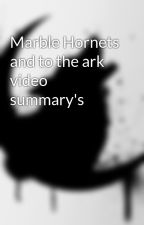 Marble Hornets and to the ark video summary's by Midnightshadow1238