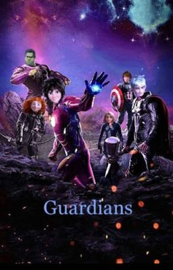 The Guardians (Rise of the brave tangled dragons) Avengers AU.