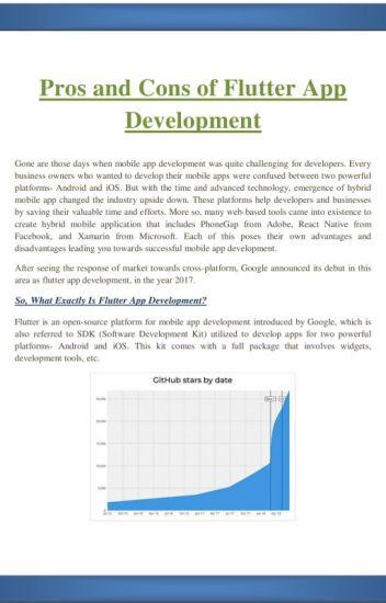 Pros and Cons of Flutter App Development - AppClues Infotech - Wattpad