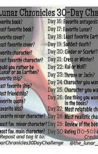 The Lunar Chronicles 30 day challenge by non-binary_dad
