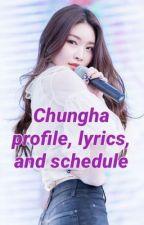 Chungha profile, lyrics, and schedule  by izoneizoneizone