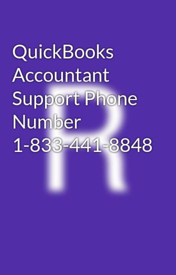 QuickBooks Accountant Support Phone Number 1-833-441-8848