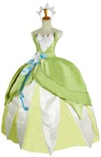 Disney the Princess and the Frog Princess Tiana Cosplay Costume by Oliviacosplay