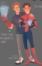 Iron Lad and Spider-Man  by Okaythenxd