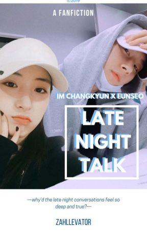 late night talk ¦ im changkyun x eunseo by zahllevator