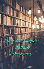 Livre De Critiques CW2k19 by lecture_same