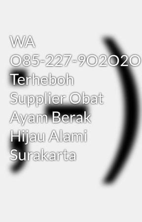 WA O85-227-9O2O2O Terheboh Supplier Obat Ayam Berak Hijau Alami Surakarta by agenayambangkok