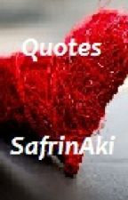 Quotes by SafrinAki