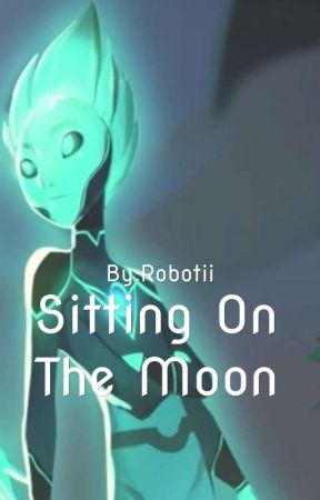 Sitting On The Moon (Krel x OC) by Robotii