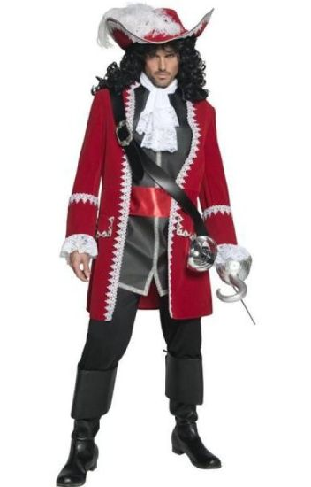 PLUNDERING PIRATE CAPTAIN ADULT MENS FANCY DRESS HALLOWEEN COSTUME