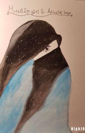 Muslim girl & atheist boy (love story) by Night9