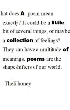 A little collection of poems by Thelilhoney