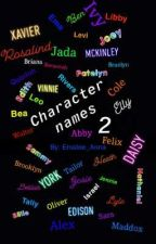 Character Names Two by Emalee_Anna