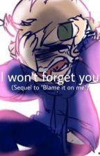 """I won't forget you... (Sequel to """"Blame it on me"""") by CrashTheParty"""