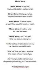 Mirror, Mirror by todayweareyoung15