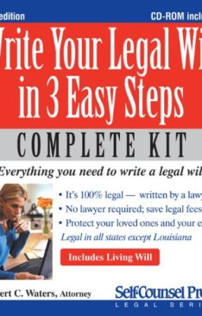 Write Your Legal Will in 3 Easy Steps - US (PDF) by Robert C. Waters by jeduxonu7662