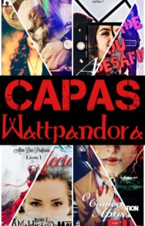 """Capas Wattpandora - livro 1 """"fechado"""" by KarenDeOliveira"""