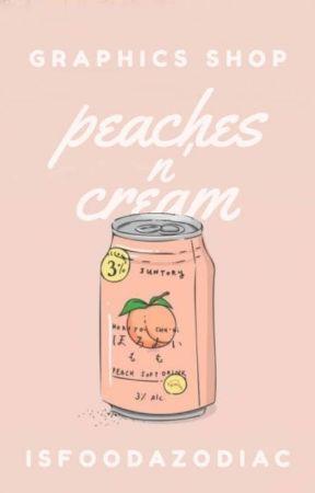 °Peaches n' Cream | graphics shop° by IsFoodAZodiac